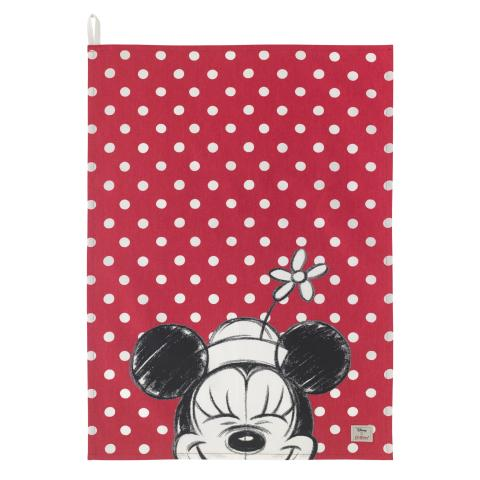 Disney Placement Tea Towel Minnie Mickey & Friends Placement Bright Red