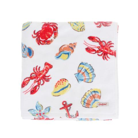 LOBSTER AND FRIENDS WHITE HAND TOWEL