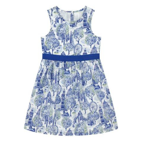 London Toile Sleeveless Dress