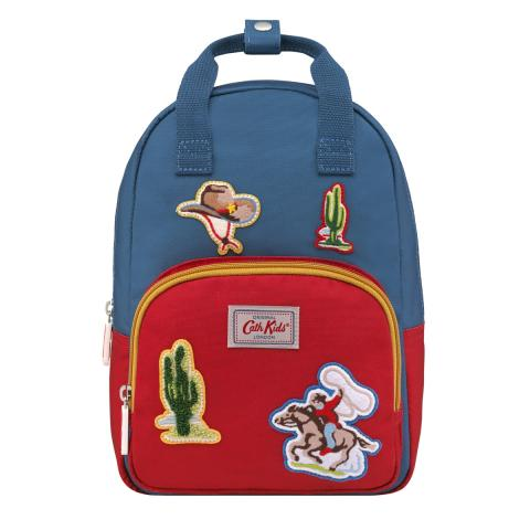 KIDS COWBOY BADGES MEDIUM BACKPACK SOLID