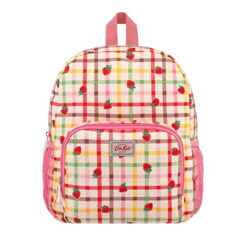LARGE RUCKSACK STRAWBERRY GINGHAM