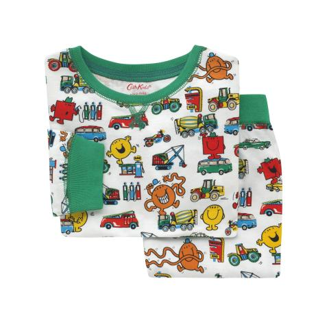 Kids LS Jersey PJs Mr Transport