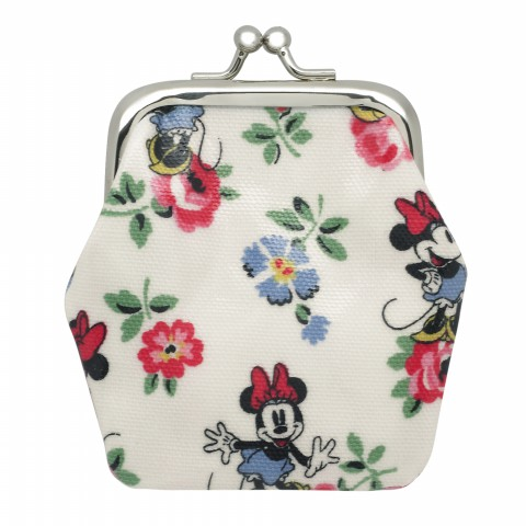DISNEY KIDS MINI CLASP PURSE MINNIE LINEN SPRIG CREAM