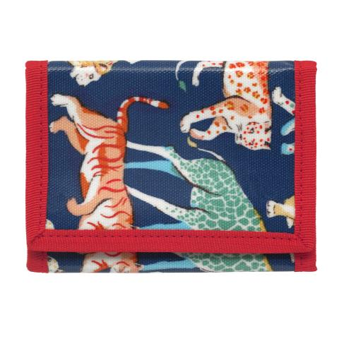 KIDS WALLET SAFARI ANIMALS NAVY