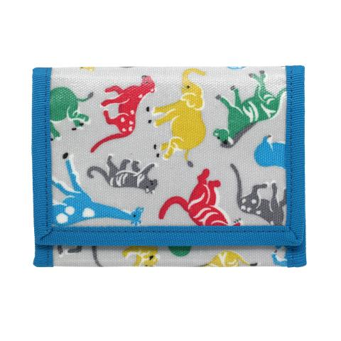 KIDS WALLET SAFARI STAMPS PALE GREY