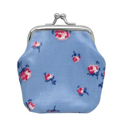 KIDS MINI CLASP PURSE SCATTERED ROSE FRESH BLUE