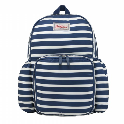 CHANGING RUCKSACK BRETON STRIPE NAVY