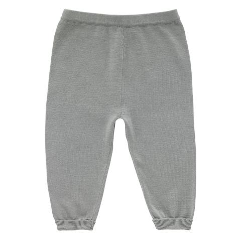 BABY KNITTED JOGGER GREY MARL 3-6 M