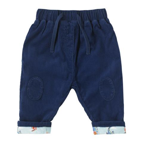 BABY BOYS CORD TROUSER NAVY 3-6 M