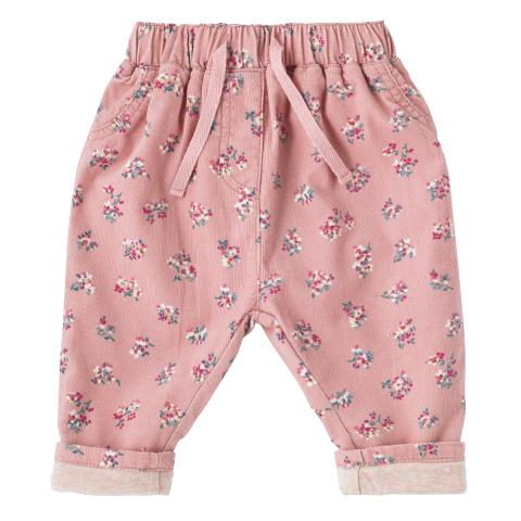 BABY GIRLS CORD TROUSER WOODSTOCK DITSY WARM PINK 3-6 M