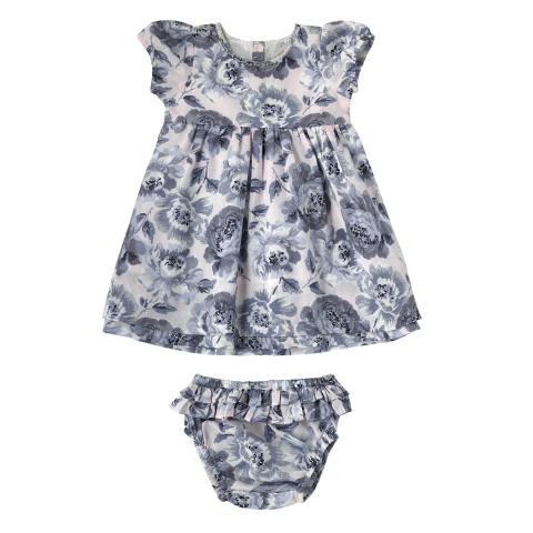 BABY LAYER DRESS & BRIEF PEONY BLOSSOM SUGAR PINK 3-6M