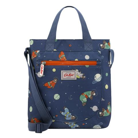 X BODY BOOK BAG BEARS IN SPACE
