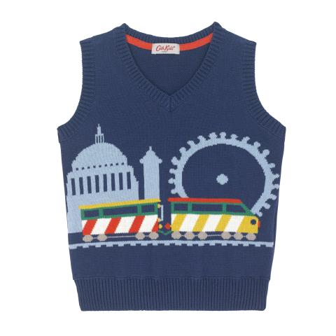 KNITTED TRAIN TANK 5-6 Y