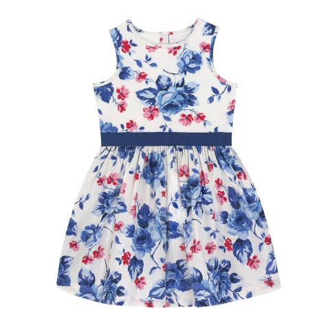 KIDS SLEEVELESS DRESS DULWICH ROSE