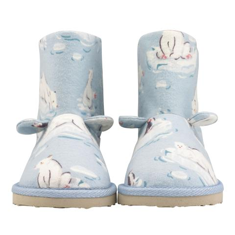 POLAR BEAR SLIPPER GIRLS POLAR BEAR ICE BLUE 170-180MM