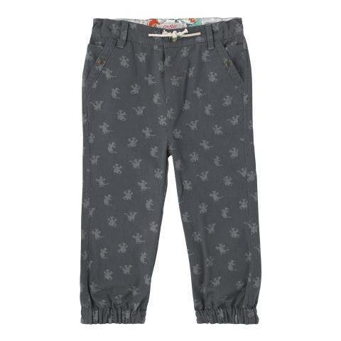 BOYS CUFFED CHINO MONO DRAGONS CHARCOAL 2-3Y