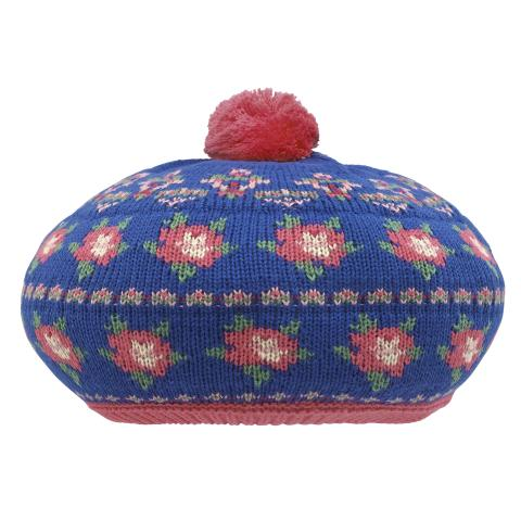 GIRLS KNITTED HAT NAVY