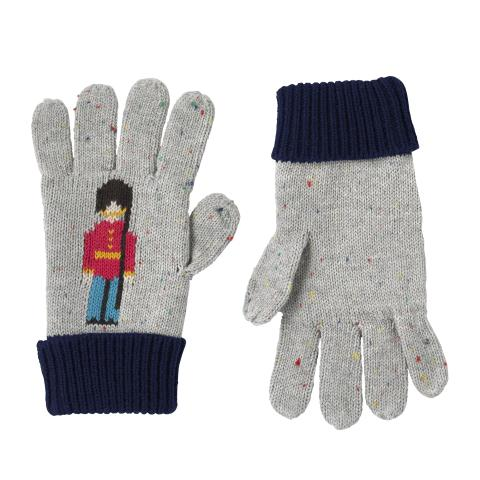 BOYS KNITTED GLOVES GREY MARL