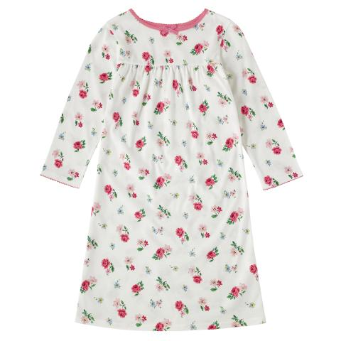 GIRLS JERSEY NIGHTIE HAMPSTEAD DITSY OFF WHITE 2-3Y