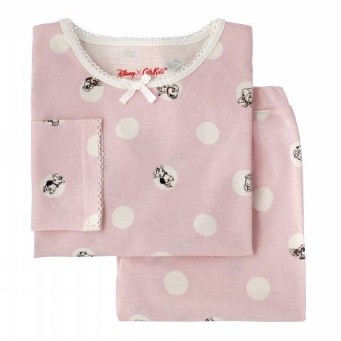 DISNEY GIRLS JERSEY PJ SET PEEKABOO SPOT SUGAR PINK 3-4Y