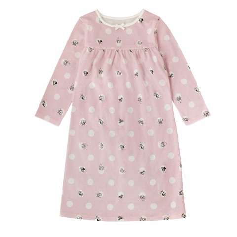 DISNEY GIRLS JERSEY NIGHTIE PEEKABOO SPOT SUGAR PINK 2-3Y