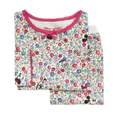 DISNEY GIRLS PJ MICKEY & FRIENDS DITSY OFF WHITE 3-4 Y