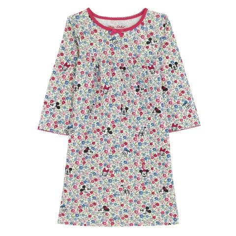DISNEY GIRLS NIGHTIE MICKEY & FRIENDS DITSY OFF WHITE 3-4 Y