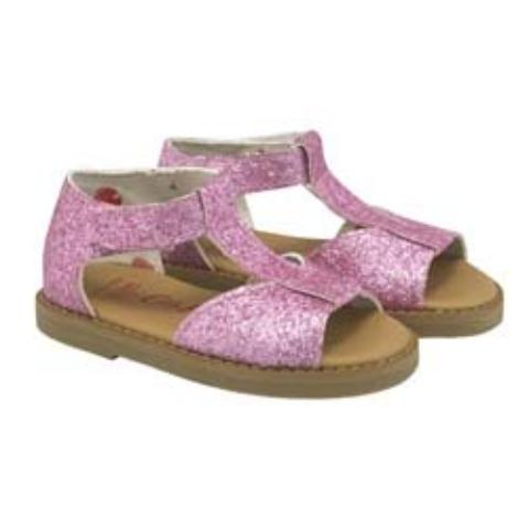 KIDS BOW SANDAL LOLLIES STONE