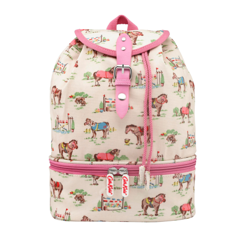 KIDS COMPARTMENT BACKPACK PONY CREAM