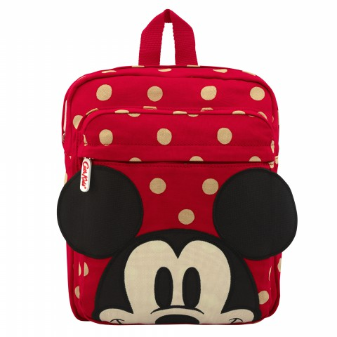 DISNEY KIDS MEDIUM RUCKSACK BUTTON SPOT RED