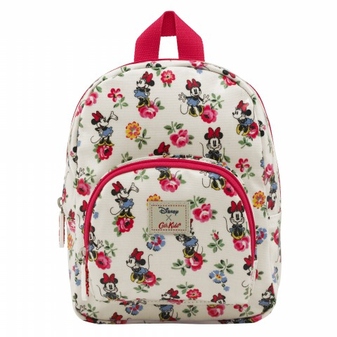 DISNEY KIDS MINI RUCKSACK MINNIE LINEN SPRIG CREAM