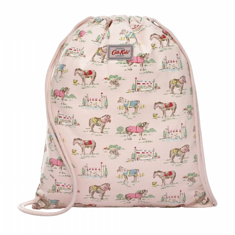 KIDS DRAWSTRING BAG PONY POWDER PINK