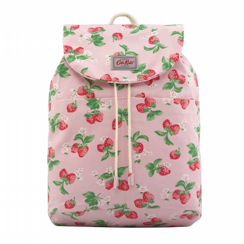 KIDS SUMMER BACKPACK MINI STRAWBERRY SOFT PINK