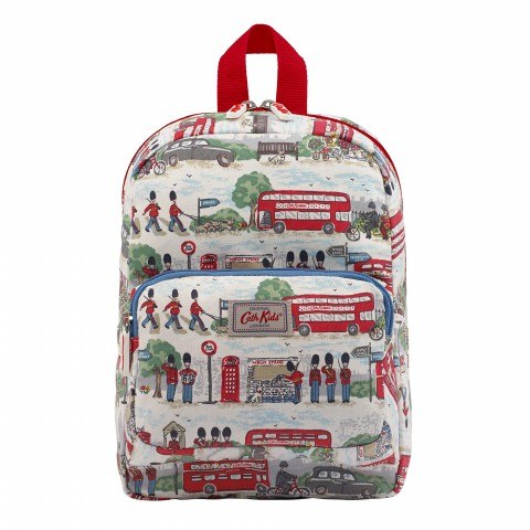 KIDS MEDIUM PADDED BACKPACK LONDON STREETS IVORY