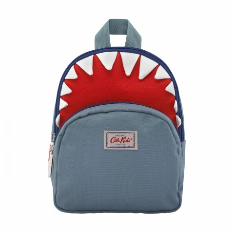 KIDS SHARK MINI RUCKSACK CHEST STRAP BLUE