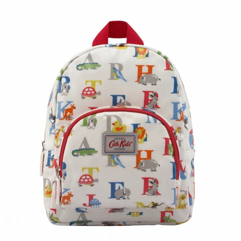 KIDS MINI RUCKSACK CHEST STRAP ANIMAL ALPHABET MULTI