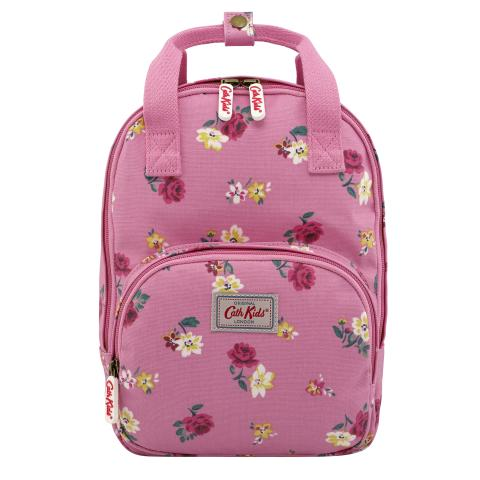 KIDS MEDIUM BACKPACK W/CHEST STRAP HAMPSTEAD DITSY BLUSH PINK