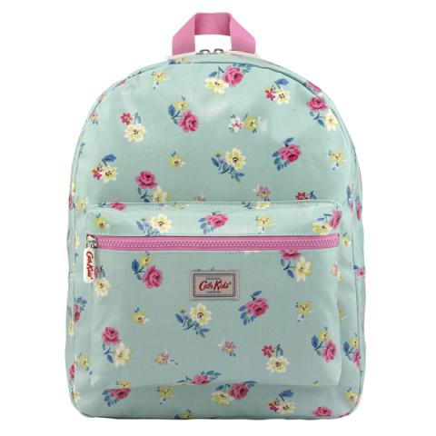 KIDS RUCKSACK PADDED W/CHEST STRAP HAMPSTEAD DITSY SEAFOAM BLUE