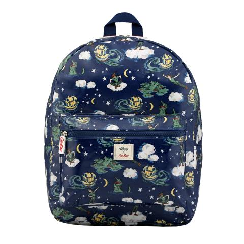 DISNEY KIDS RUCKSACK PADDED PETER PAN MINI CLOUDS SOFT NAVY