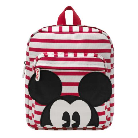 Disney Kids Medium Backpack Mickey Breton Stripe Red