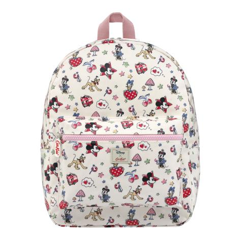 Disney Kids Padded Rucksack Mickey & Minnie Little Patches Ivory