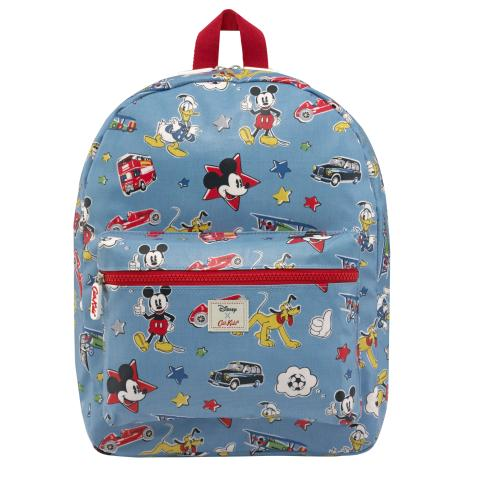 Disney Kids Padded Rucksack Mickey & Friends Patches Dusty Blue