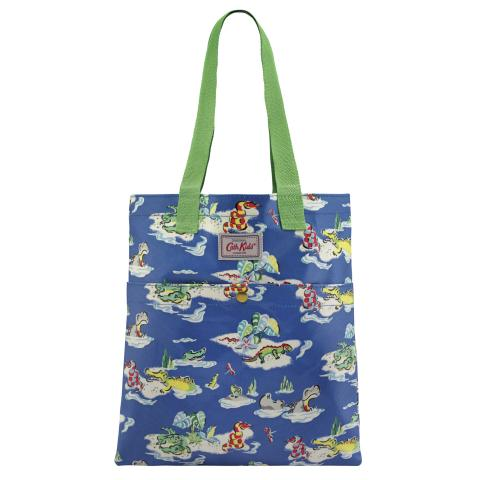 KIDS BOOKBAG WITH POPPER HIPPOS & FRIENDS TRUE BLUE
