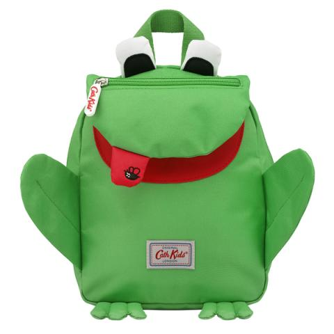 KIDS FROG MINI RUCKSACK WITH CHEST STRAP SOLID GREEN