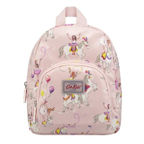 KIDS MINI RUCKSACK CHEST STRAP PRANCING PONIES PALE PINK