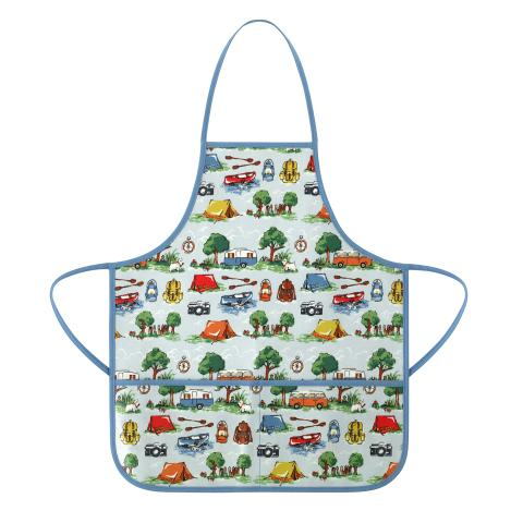 KIDS APRON BILLIE GOES CAMPING SOFT BLUE