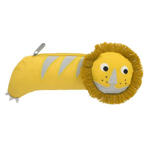 NOVELTY LION PENCIL CASE YELLOW