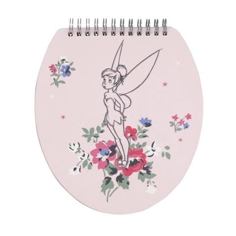 DISNEY NOVELTY NOTE PAD TINKER BELL POSY SUGAR PINK