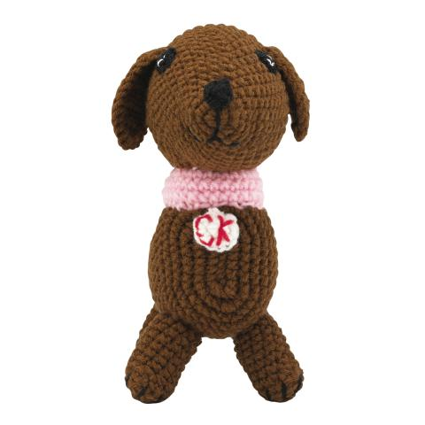CROCHET SAUSAGE DOG SOLID BROWN