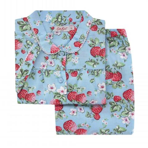 KIDS WOVEN PJ MINI WILD STRAWBERRY